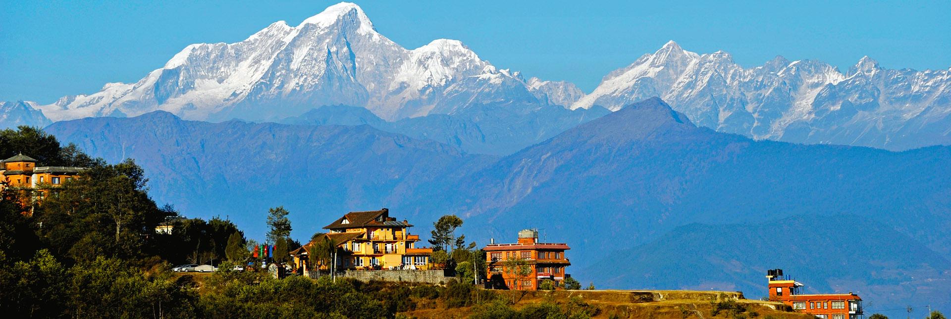 Kathmandu, view on a clear day