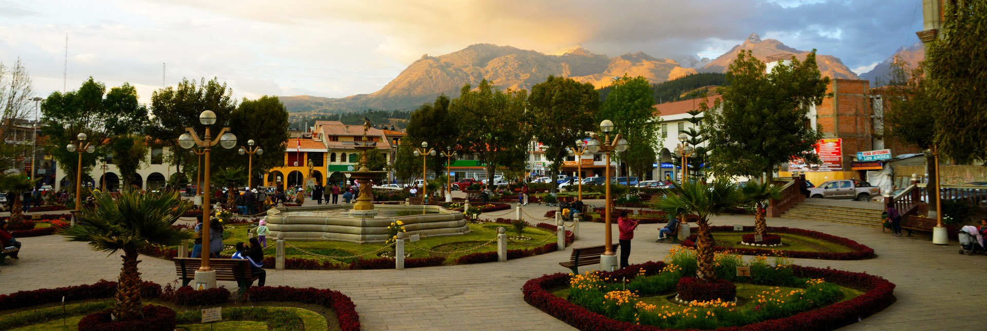 Huaraz, town center