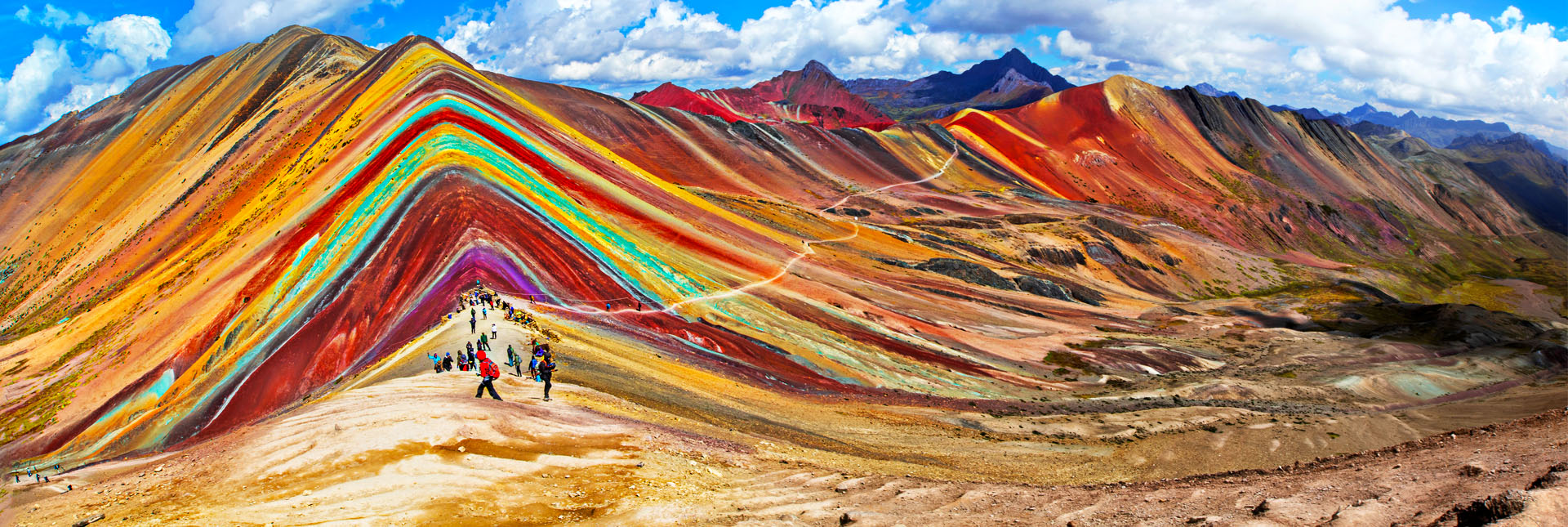 Rainbow Mountains around Cusco