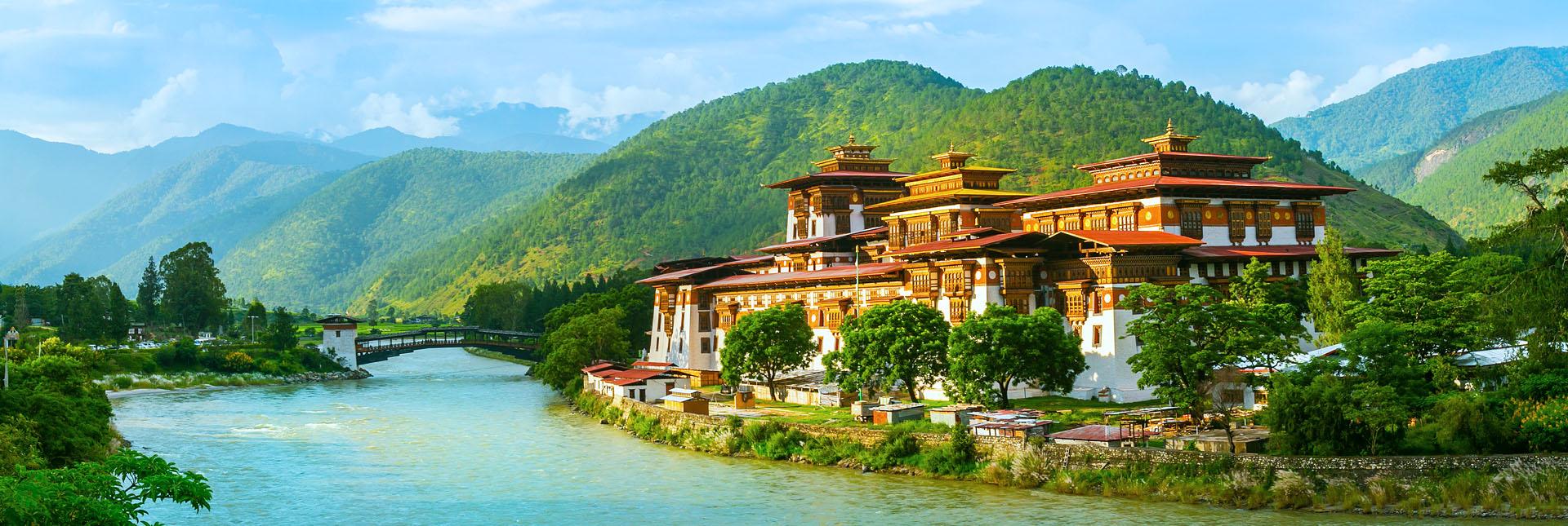 Punakha Dzong monastery in Bhutan