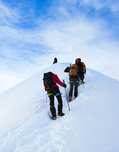 Climbing the Mont Blanc