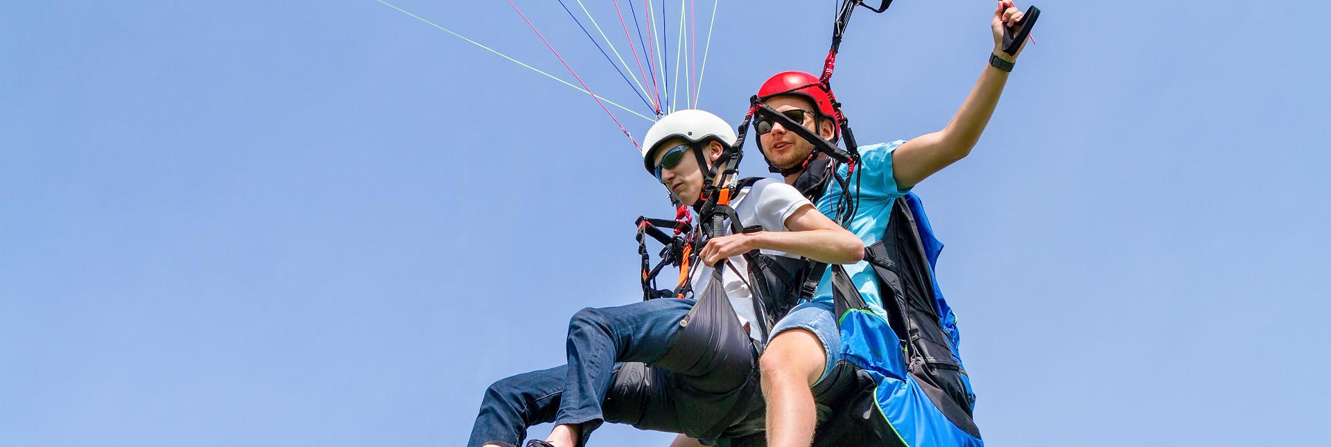 Paragliding above Chamonix