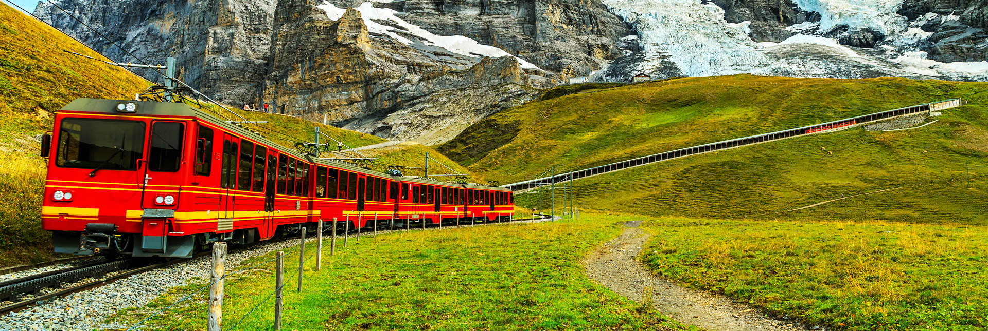 Train to Eigergletscher Station