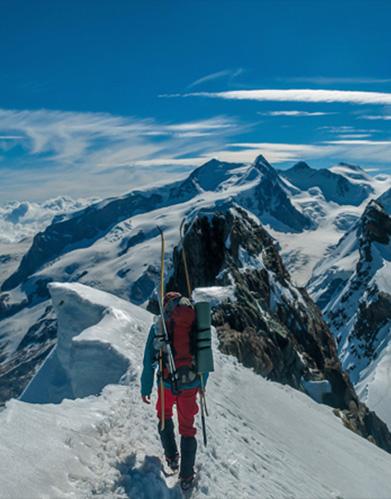 Climbing Monte Rosa