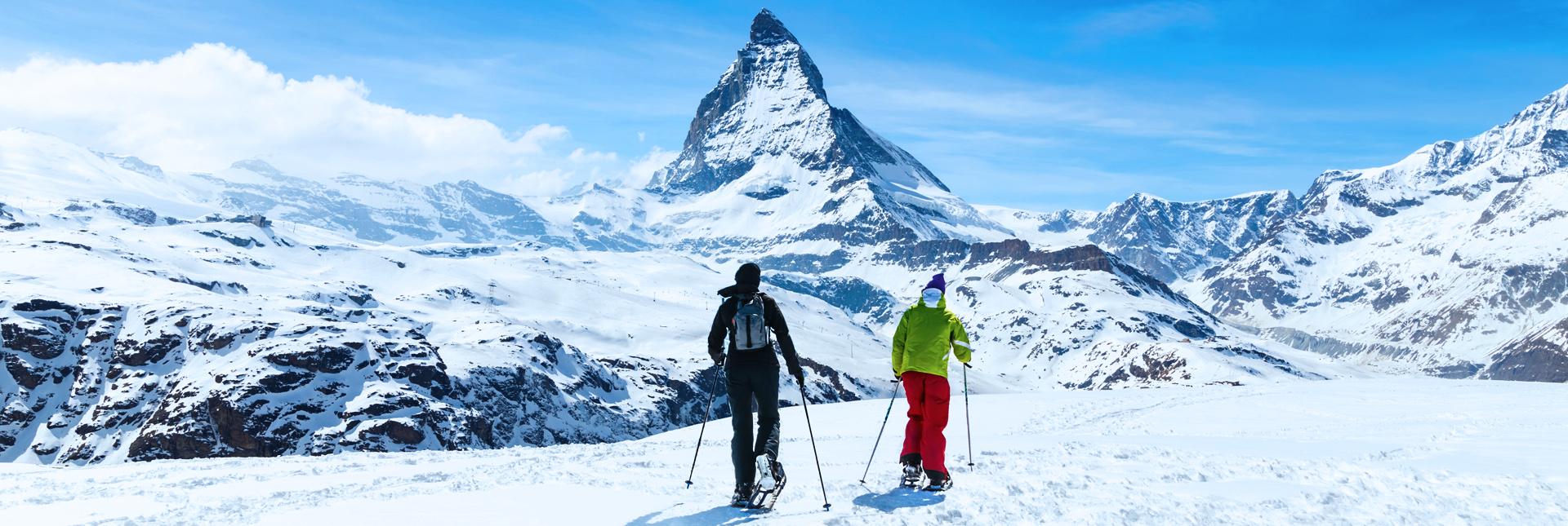 Snowshoeing in the Matterhorn trek