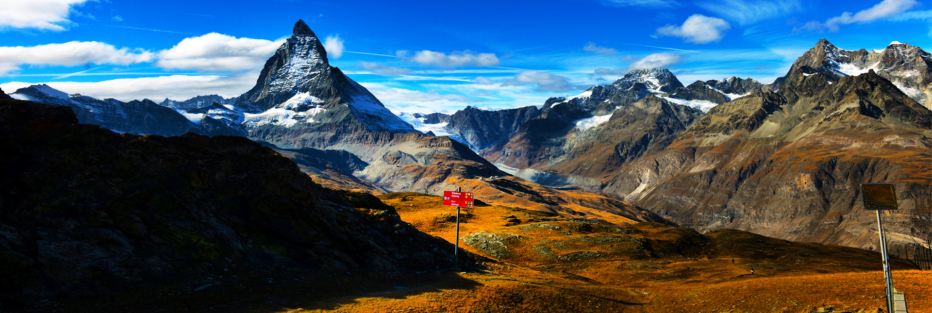 The view of the iconic Matterhorn