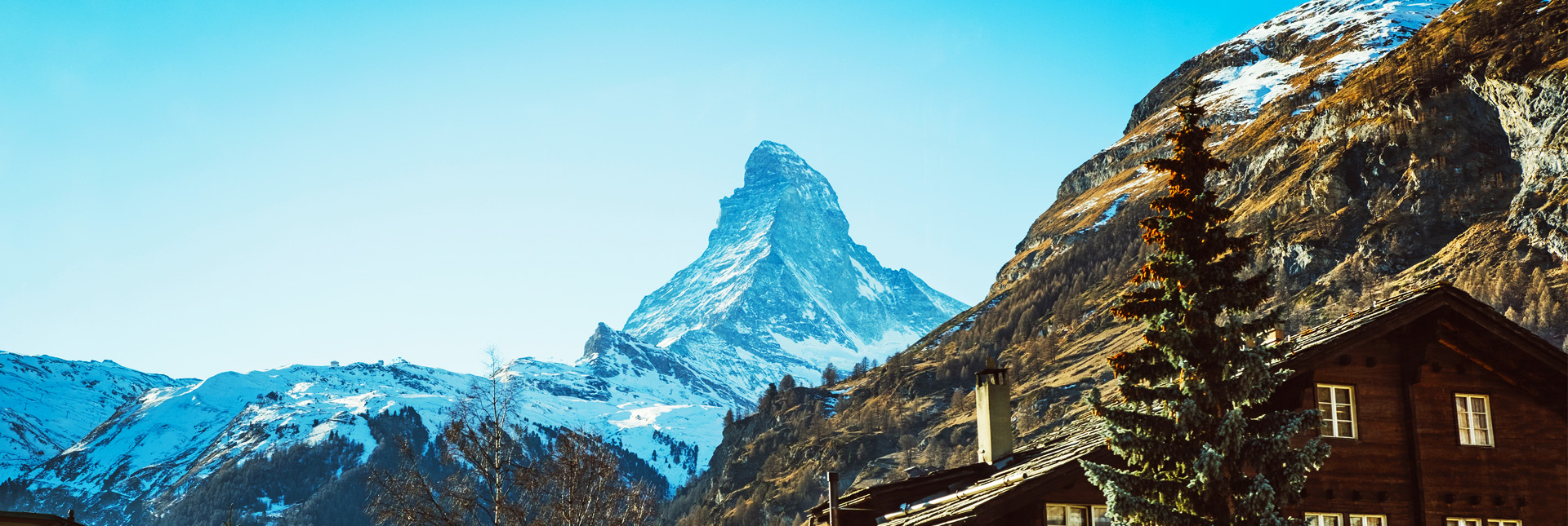 View of Matterhorn from a Village near Zermatt