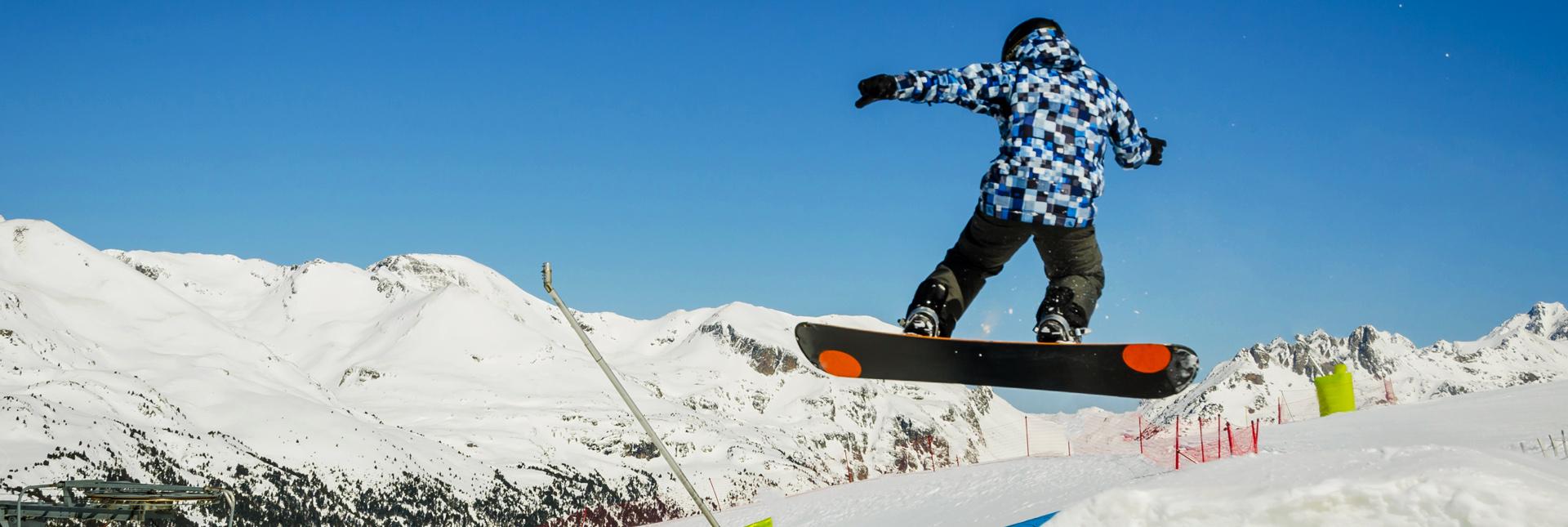 Snowboarding on the slopes around Zermatt