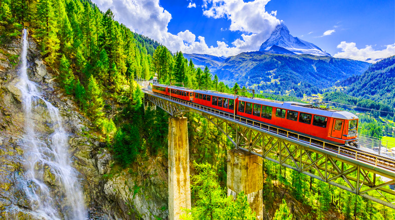 Train to Gornergrat from Zermatt