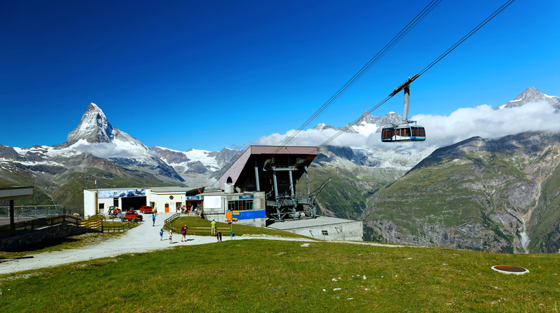 Summit of Rothorn by Cable Car