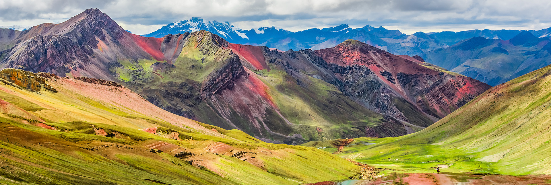 A view of rainbow mountain