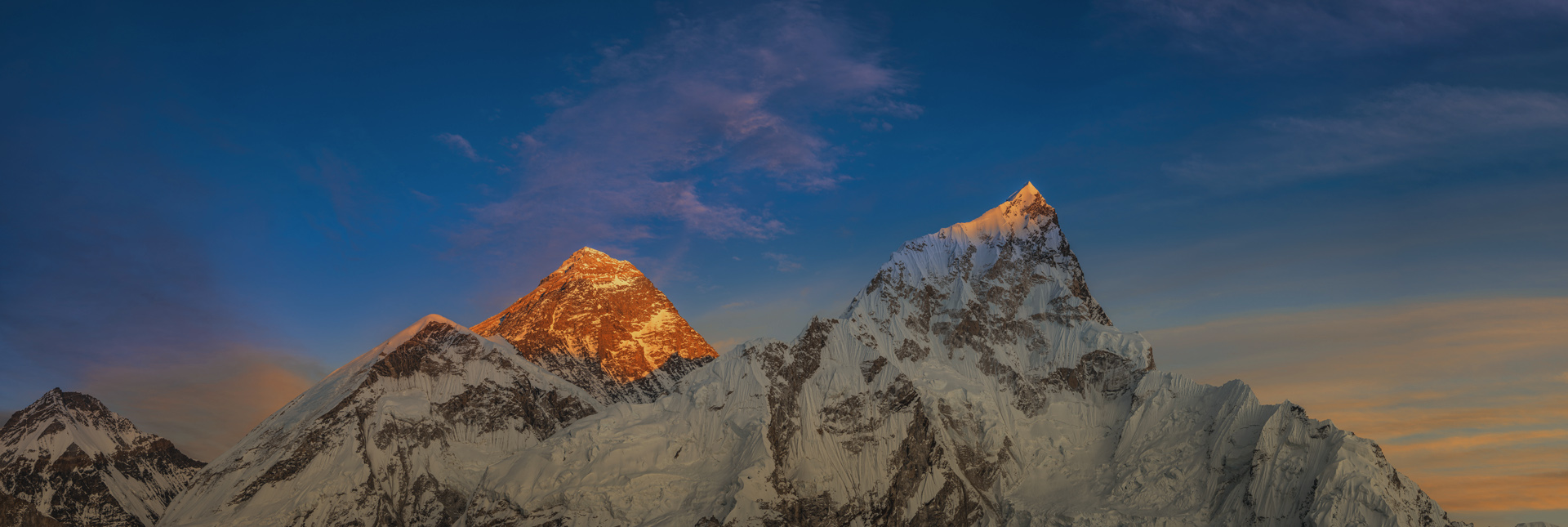 Majestic view of Mt. Everest.