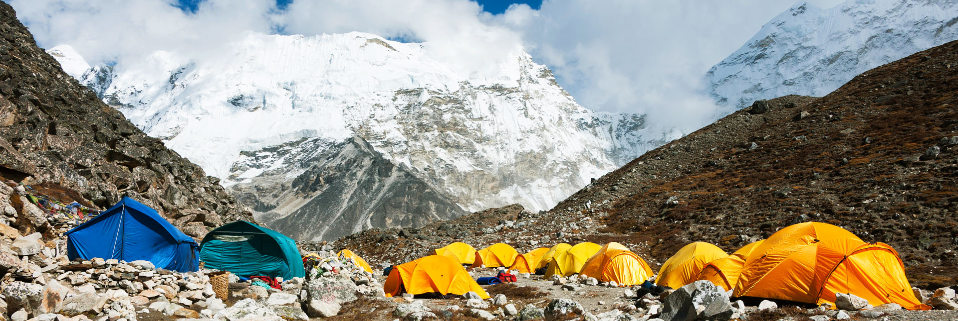 Campsite during the Island Peak Expedition