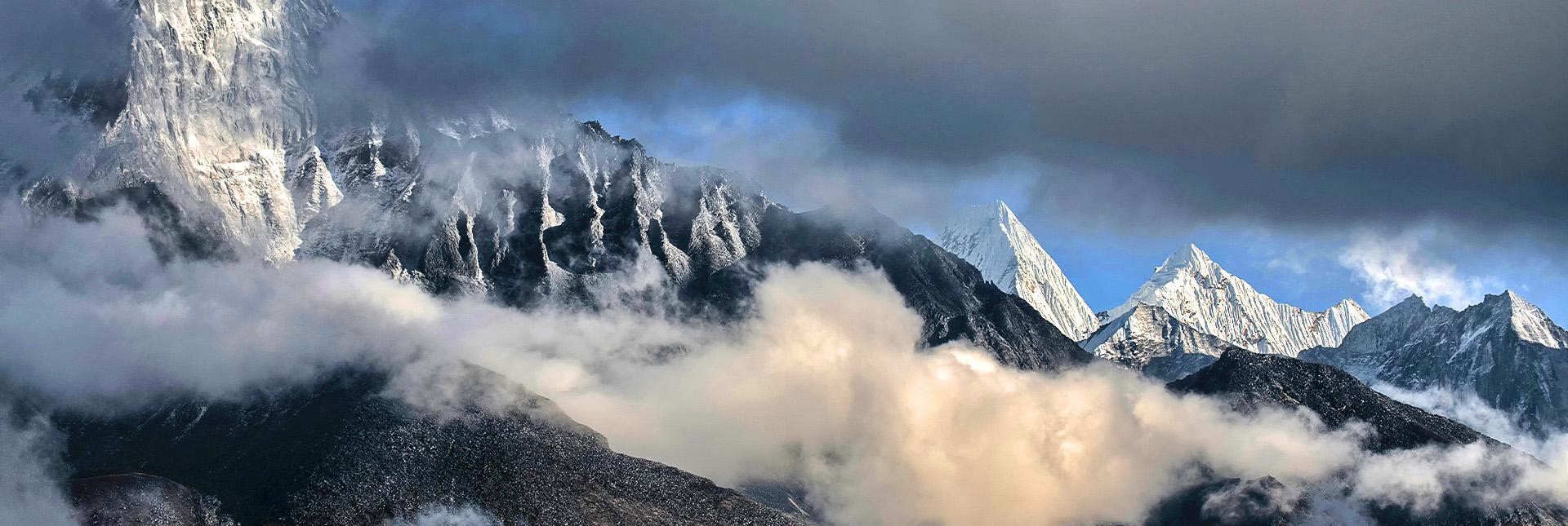 View of surrounding peaks during the trek