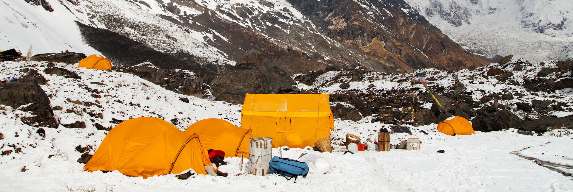 Campsite on the trek route