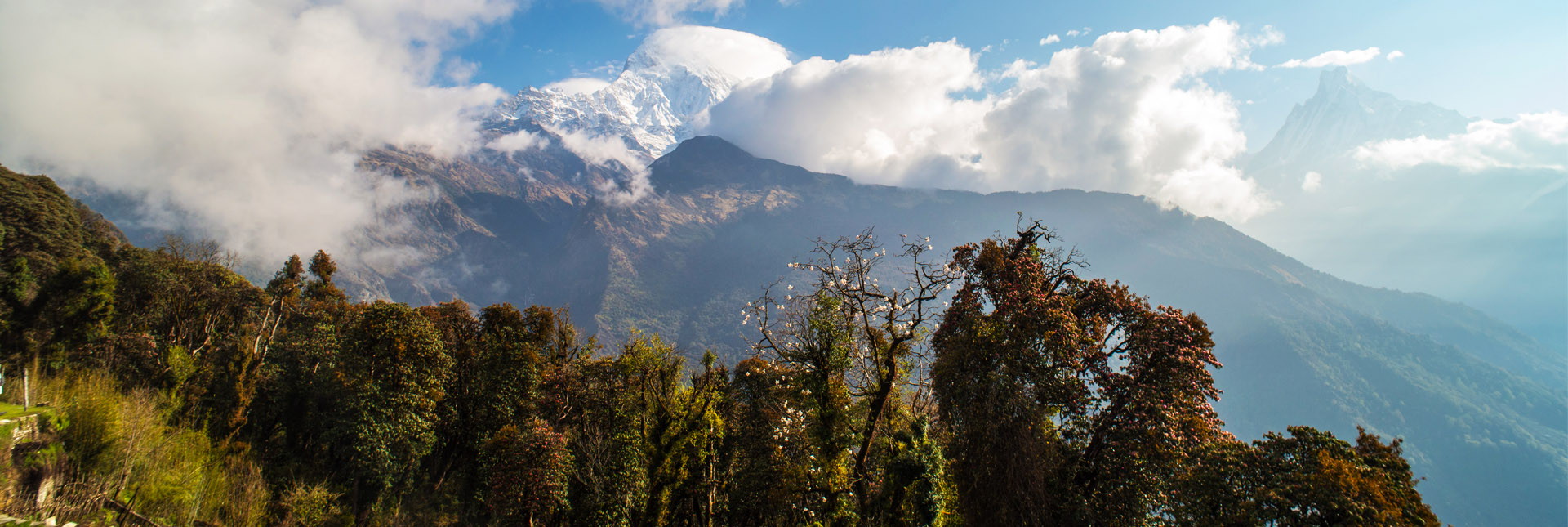 View during the trek to Annapurna base camp